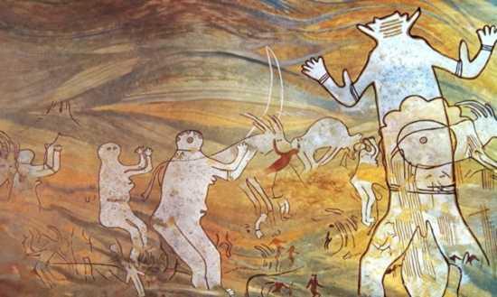 figuras humanoides en pinturas rupestres del sahara