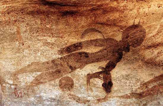 pinturas de extraterrestres en el sahara